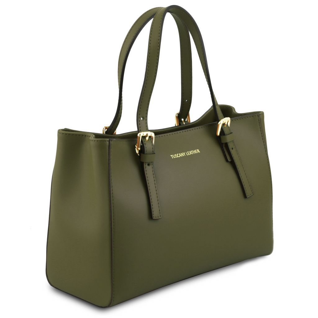 Aura Smooth Leather Satchel_33