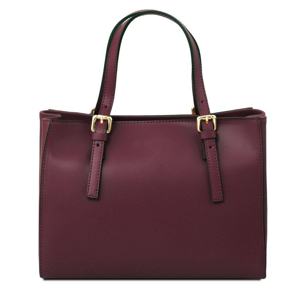 Aura Smooth Leather Satchel_38