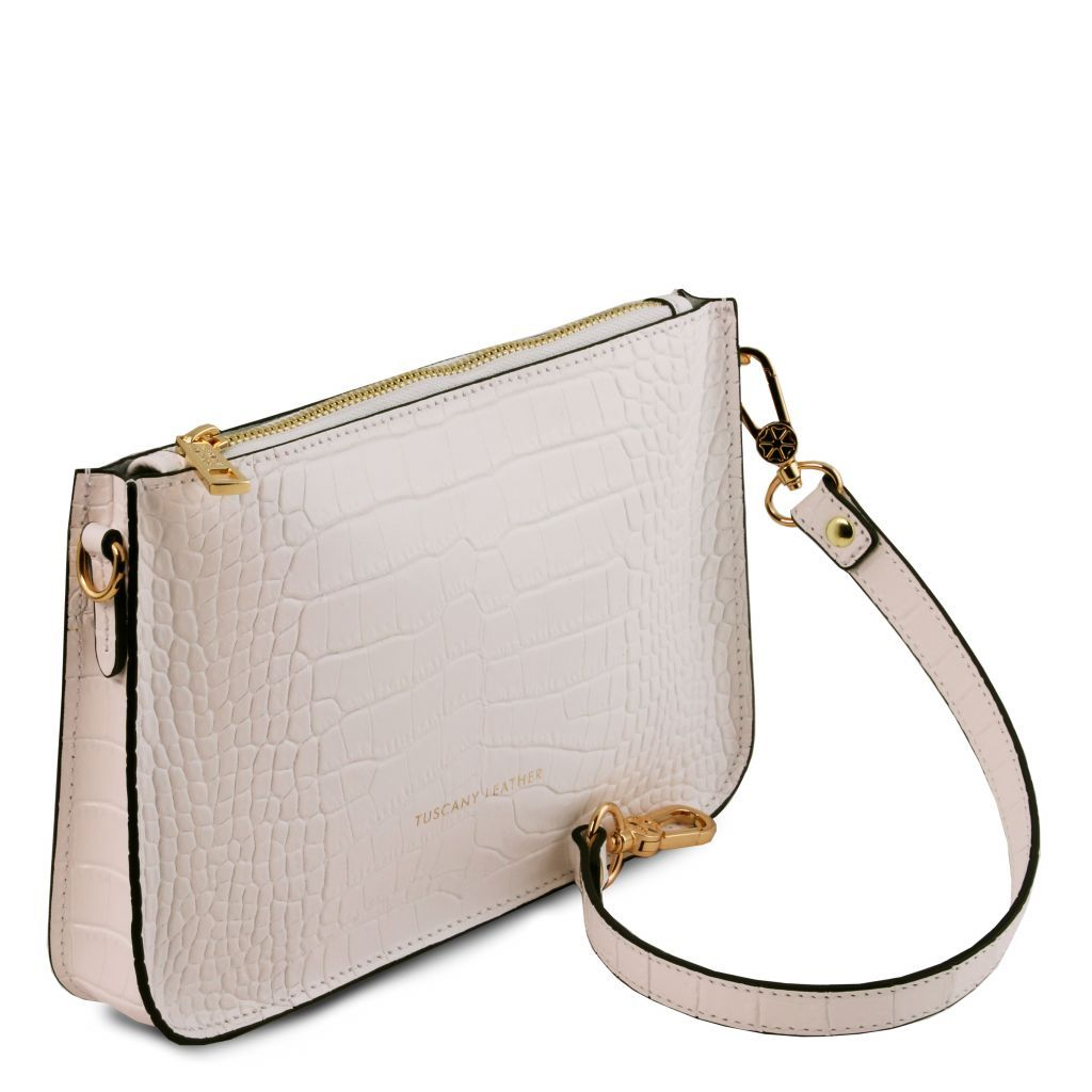 Cassandra Croc-Embossed Clutch Handbag_12