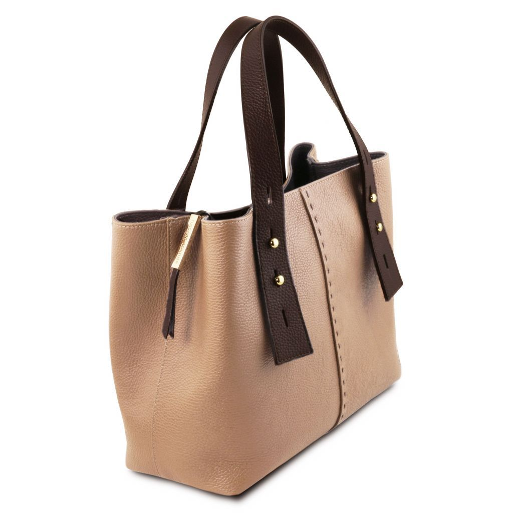 TL Hammered Leather Shopping Tote_30