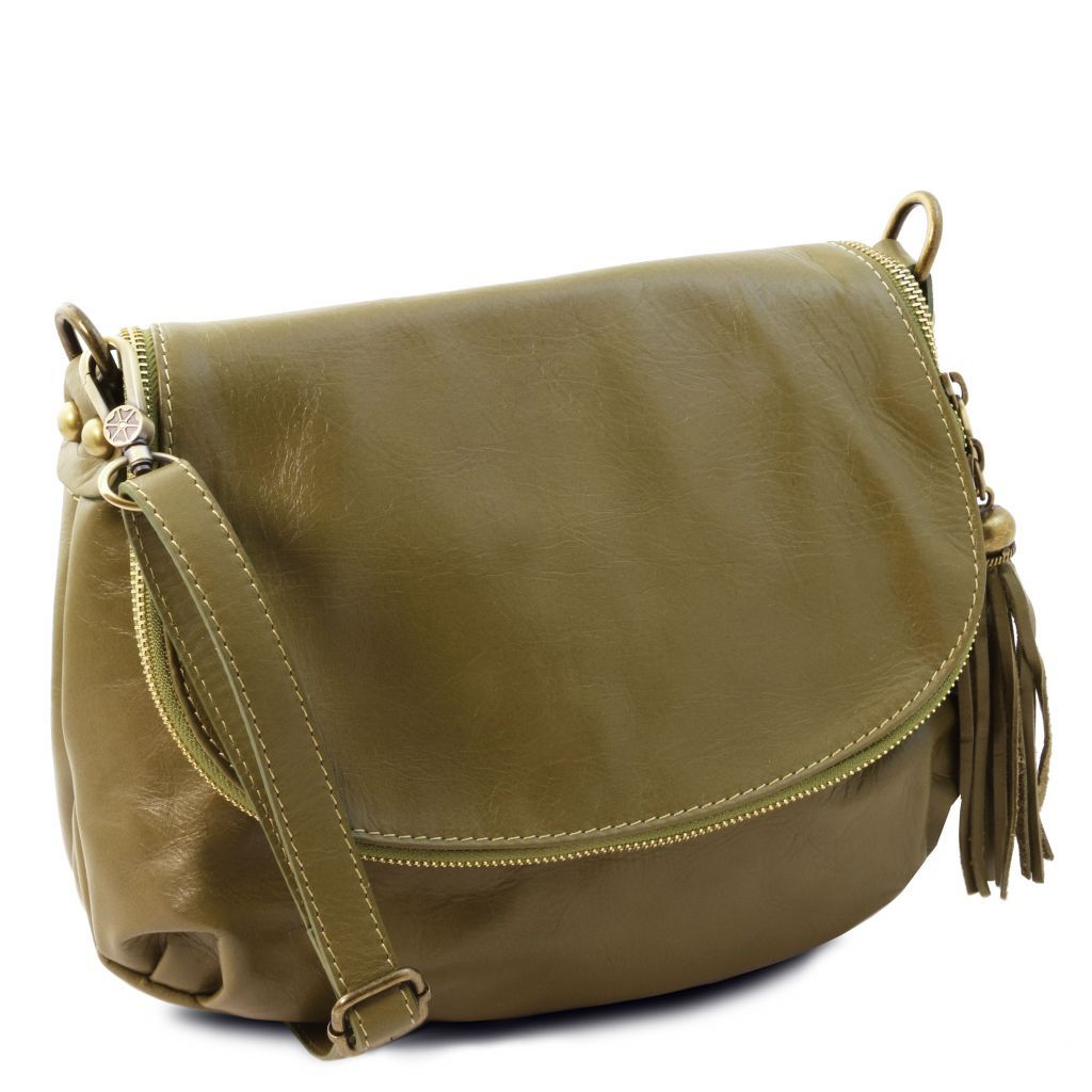 TL Soft Leather Shoulder Bag with Tassel_23