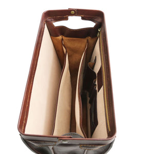 Canova Vegetable Tanned Leather Briefcase 3 compartments_2
