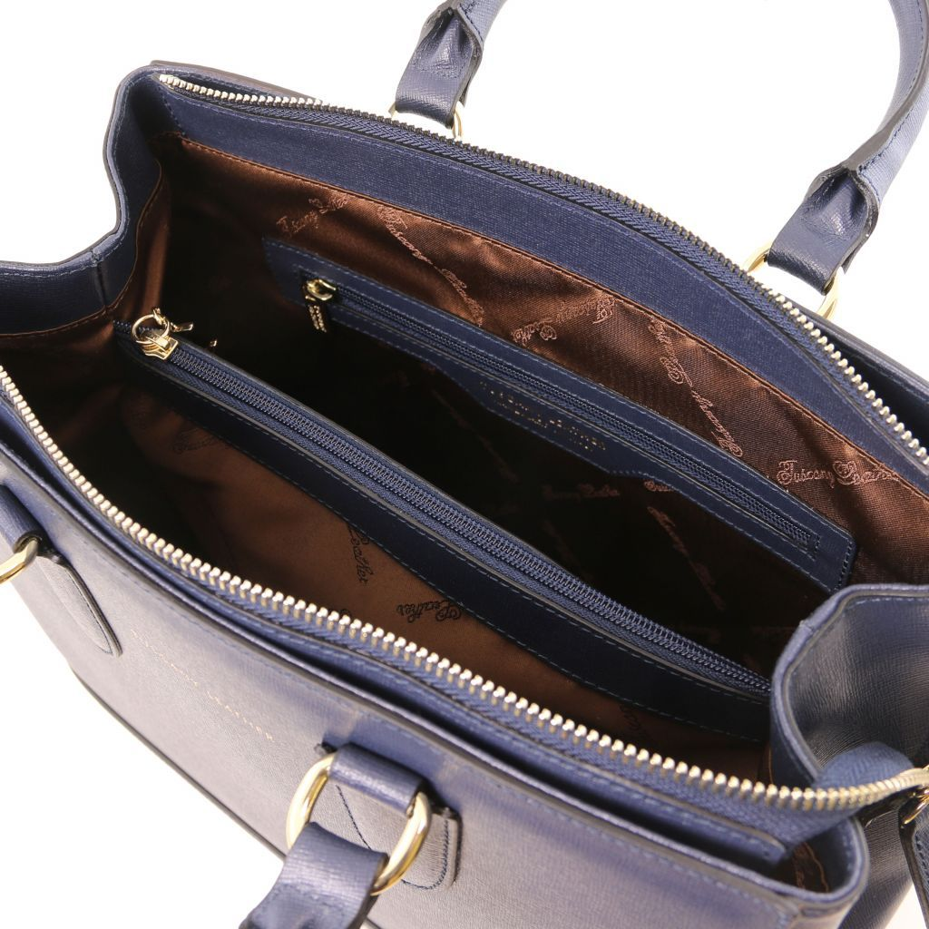TL Saffiano Leather Satchel _35