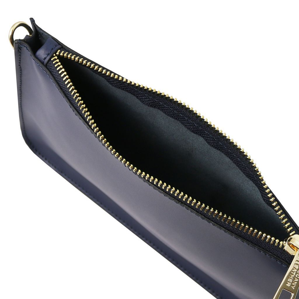 Cassandra Smooth Leather clutch handbag_15