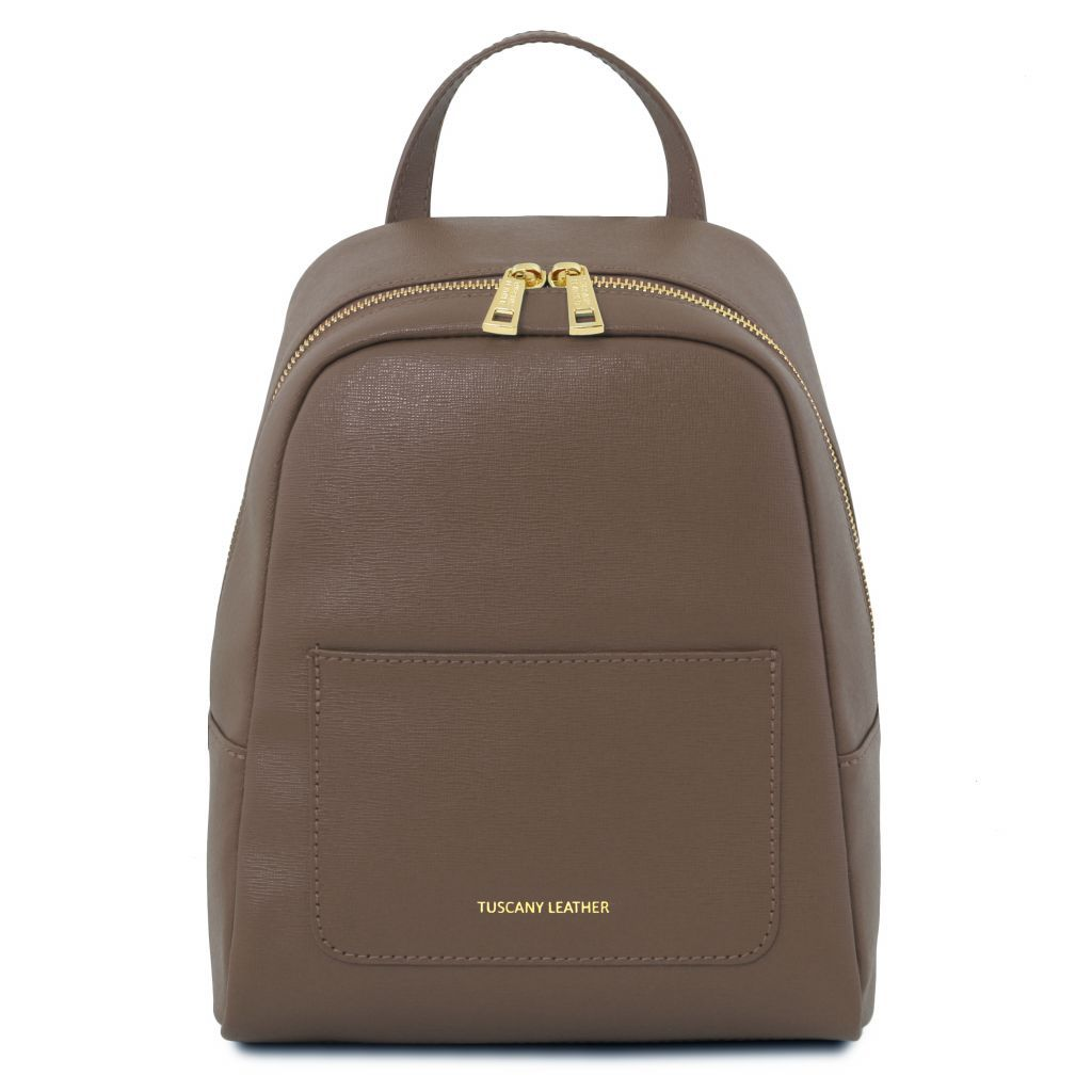 TL Small Saffiano Leather Backpack For Women_26