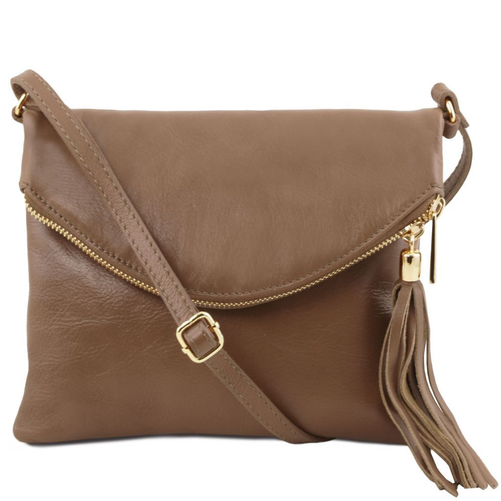 TL Young Soft Leather Shoulder Bag With Tassel_25