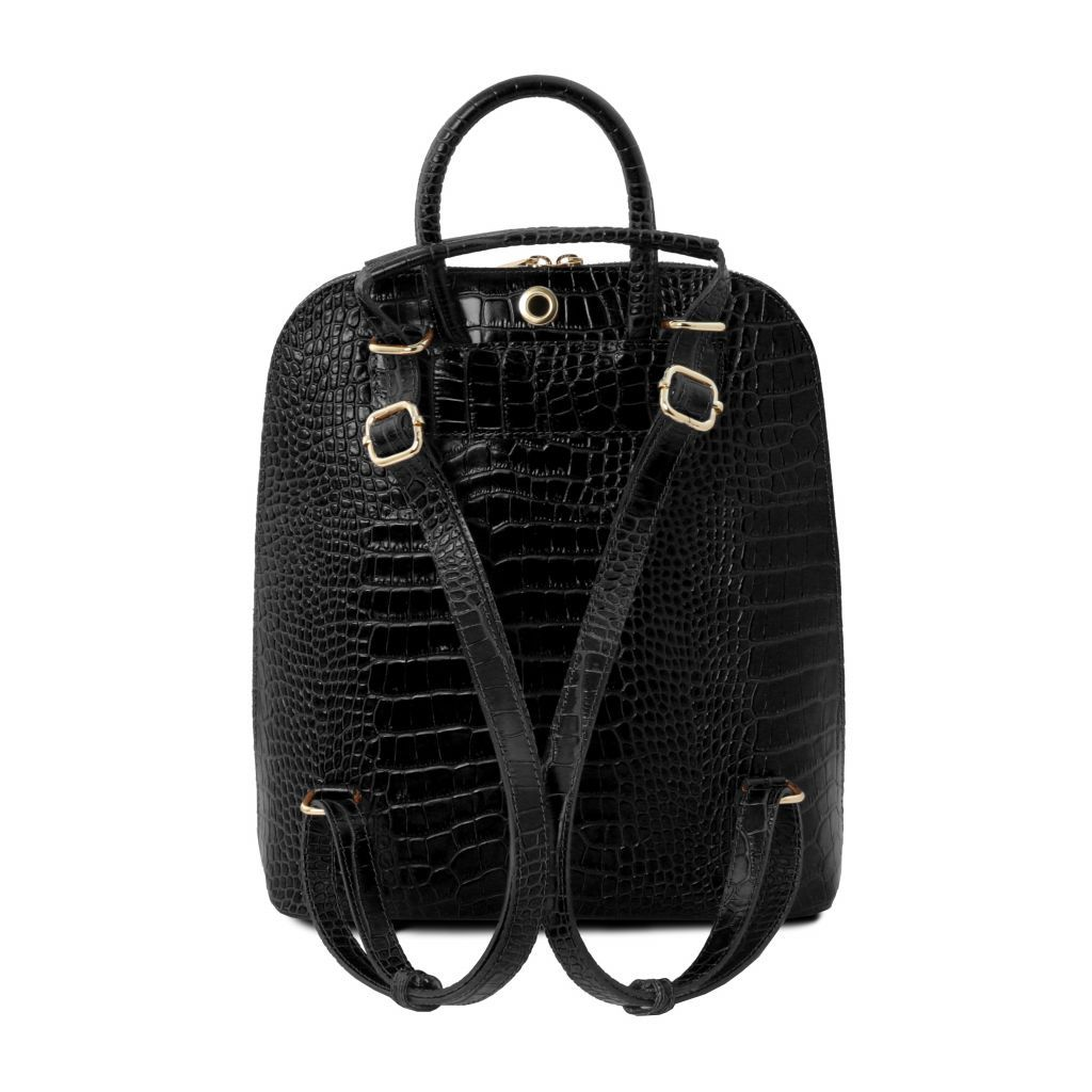 TL Croc-Embossed backpack for women 13