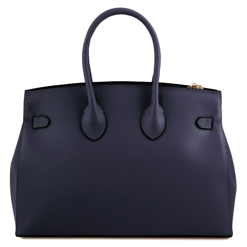 Elettra Smooth Leather Elagent Satchel_24