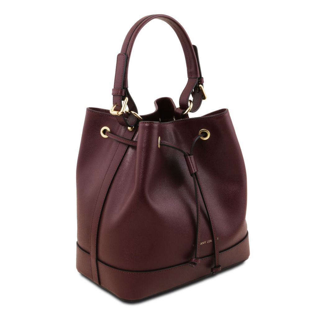Minerva Saffiano Leather Bucket Bag_26