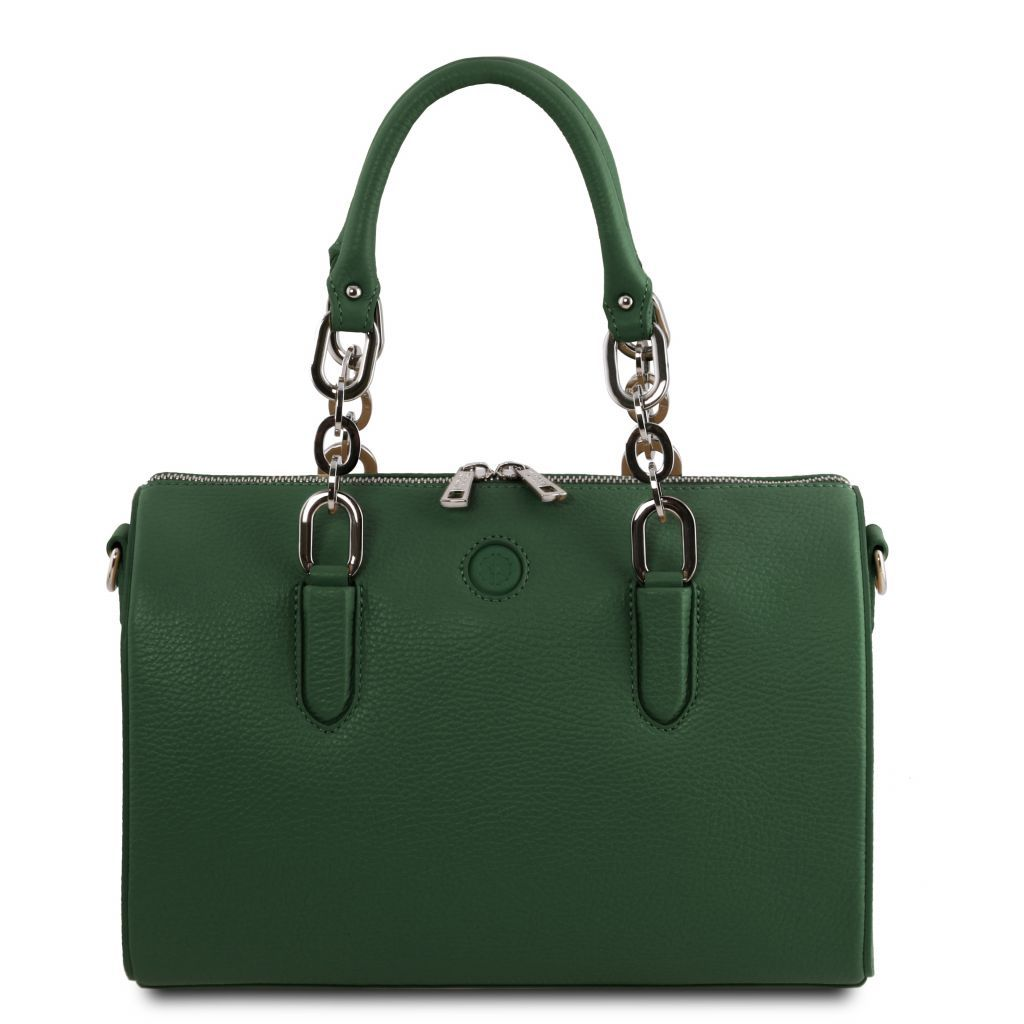 Narciso Hammered Leather Duffle Bag_4