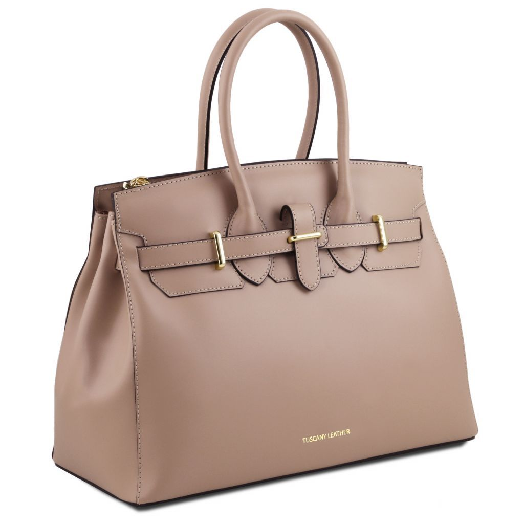 Elettra Smooth Leather Elagent Satchel_16