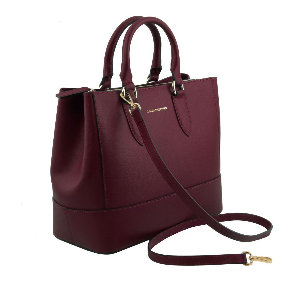 TL Saffiano Leather Satchel _27