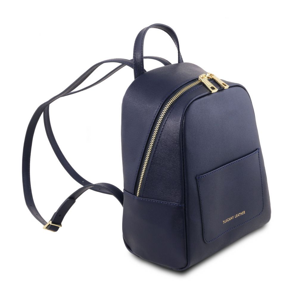 TL Small Saffiano Leather Backpack For Women_33