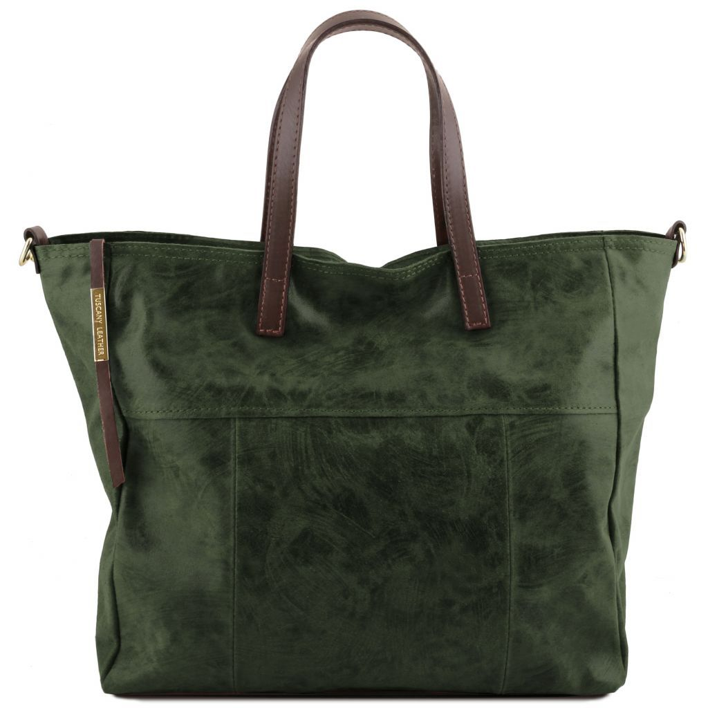 Annie Printed Sued leather TL SMART Tote Bag_22