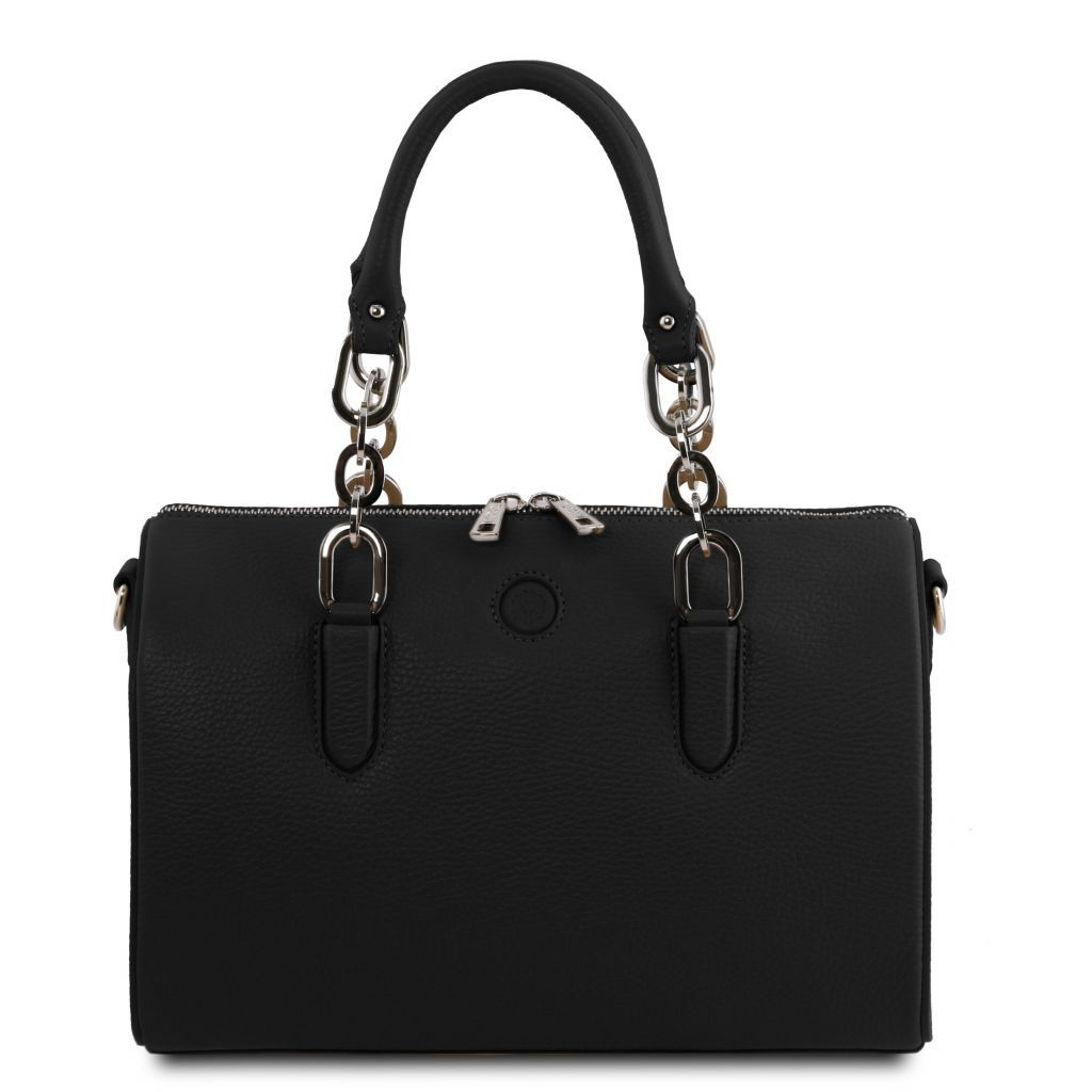 Narciso Hammered Leather Duffle Bag_2
