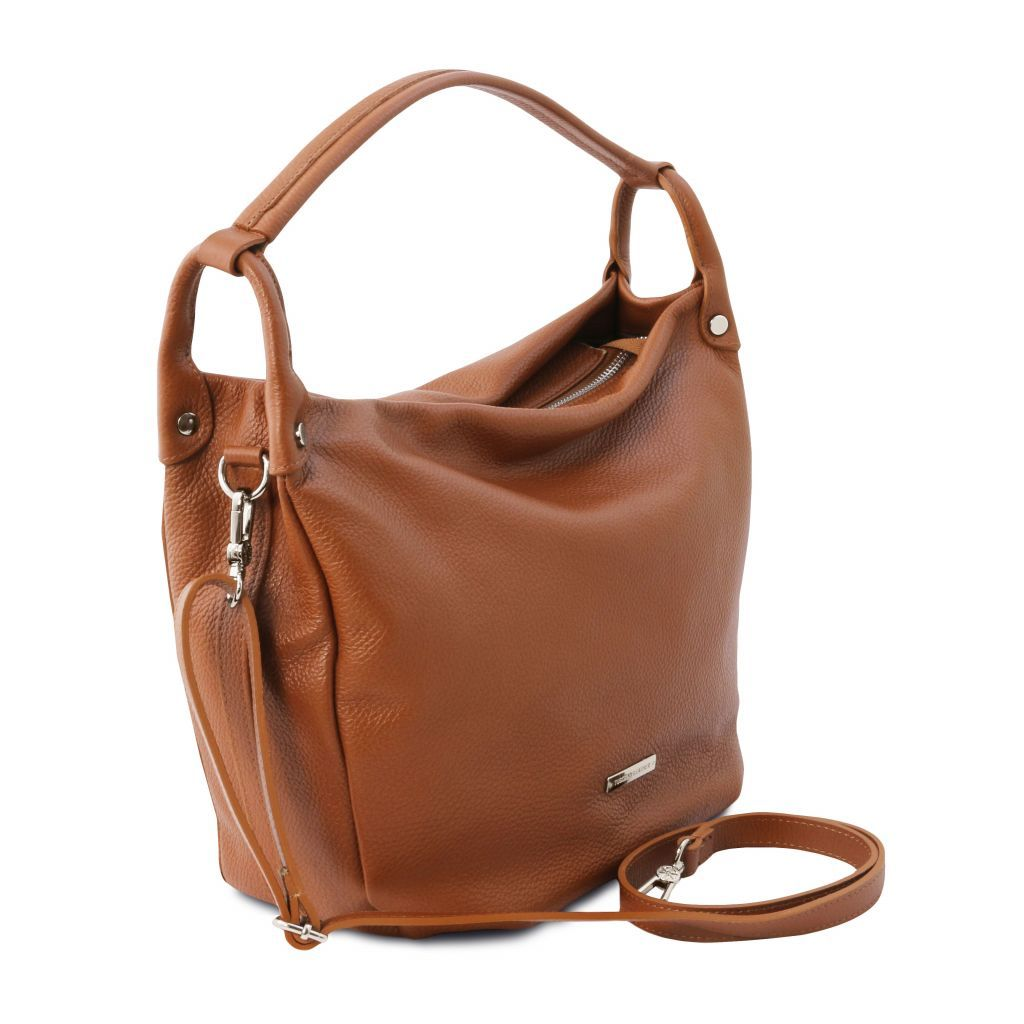 TL Embossed Leather Hobo Bag_5