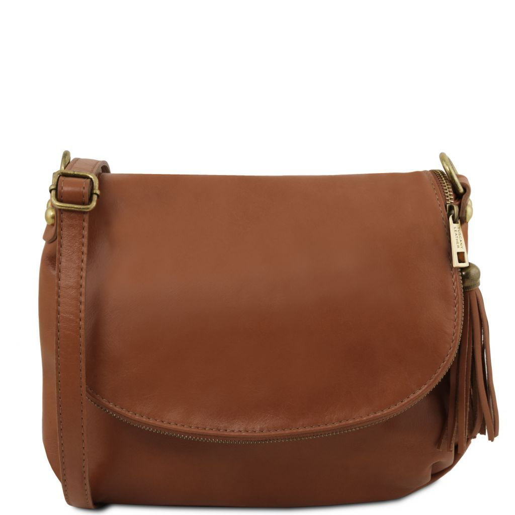 TL Soft Leather Shoulder Bag with Tassel_27