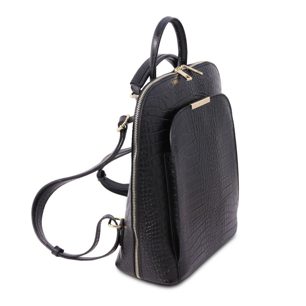 TL Croc-Embossed backpack for women 12