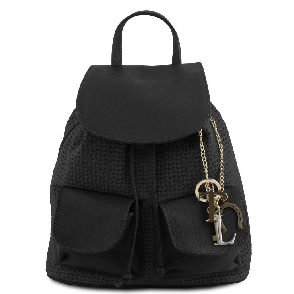 TL Suede Leather Backpack with KeyLuck_3