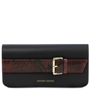Demetra Leather Handstrap Clutch with chain strapÊ_1