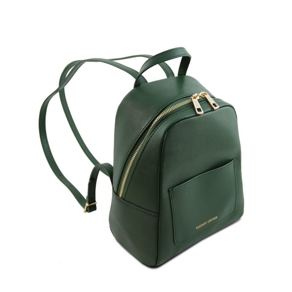 TL Small Saffiano Leather Backpack For Women_22