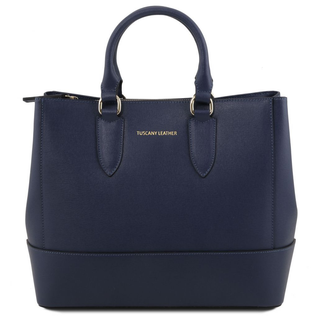 TL Saffiano Leather Satchel _31