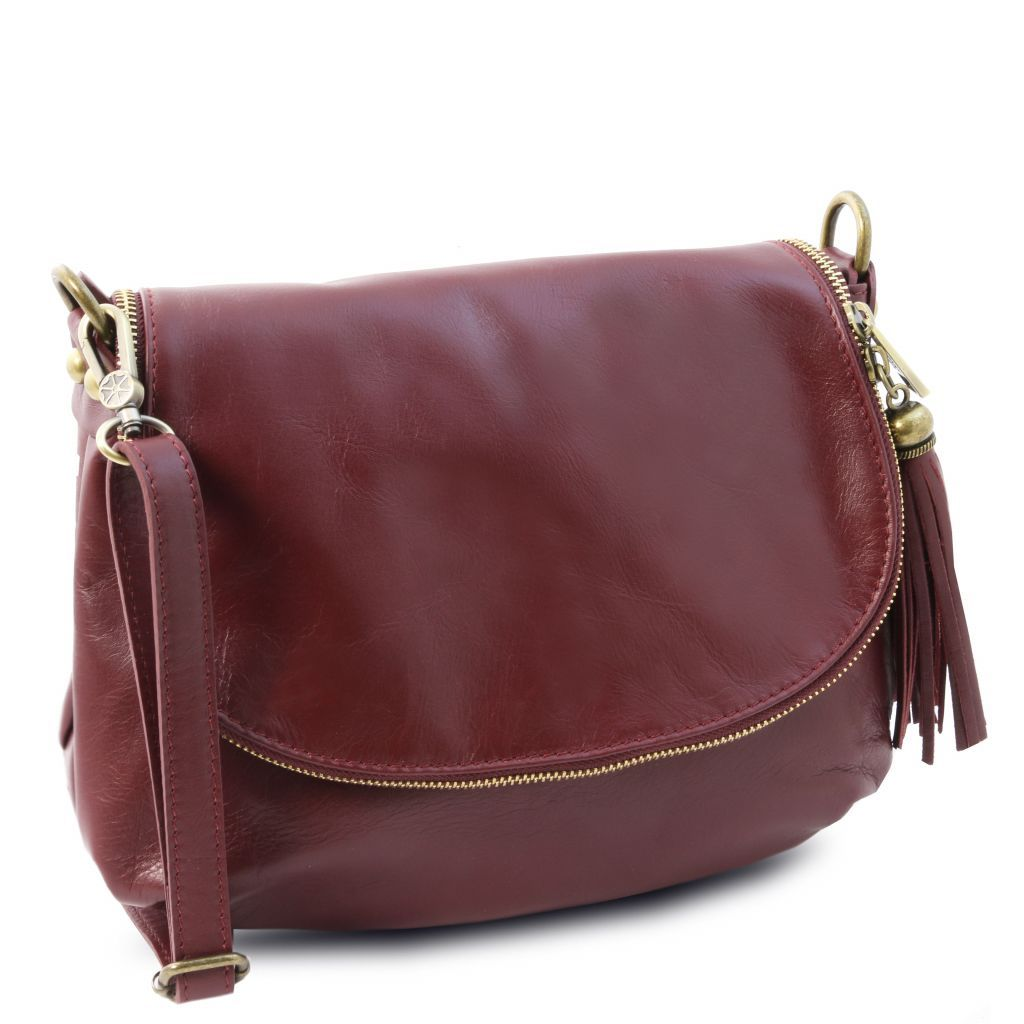 TL Soft Leather Shoulder Bag with Tassel_33