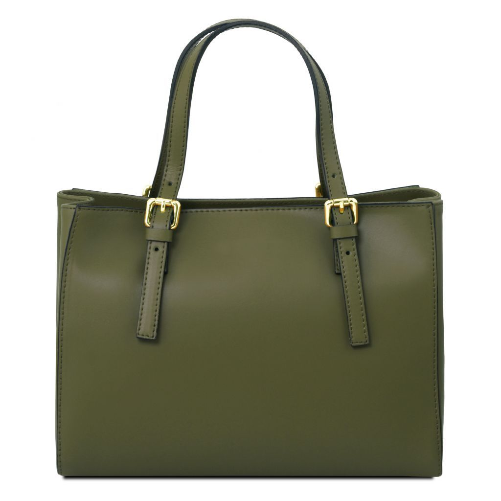 Aura Smooth Leather Satchel_34