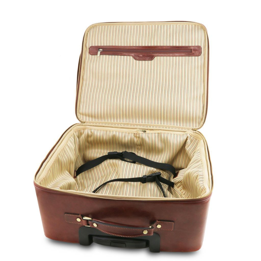 Varsavia vegetablle tanned leather pilot case with two wheels_20