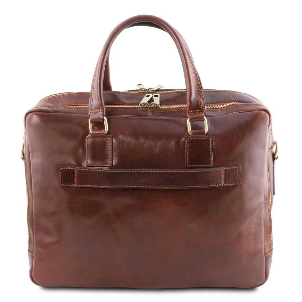 Urbino Vegetable Tanned Leather laptop briefcase_34