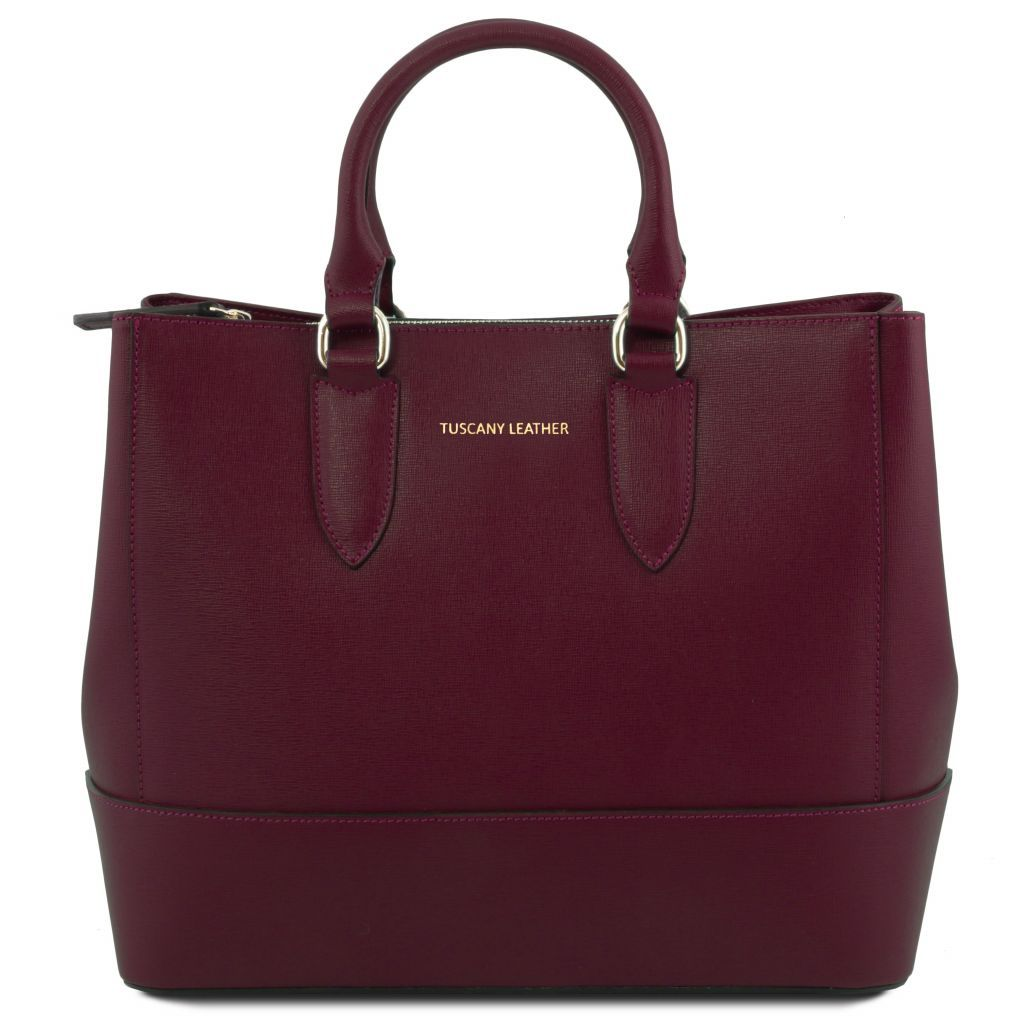 TL Saffiano Leather Satchel _26