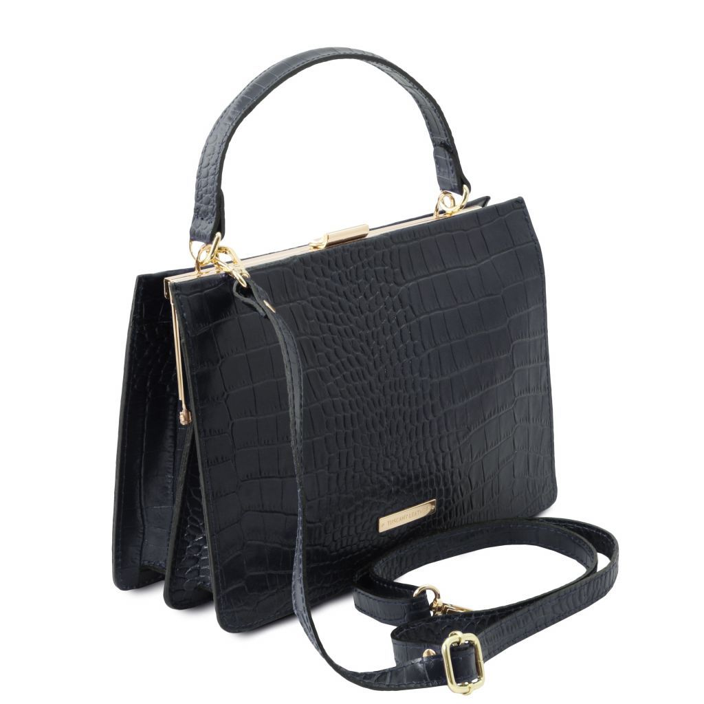 Iris Croc-Embossed Top Handle Bag_12