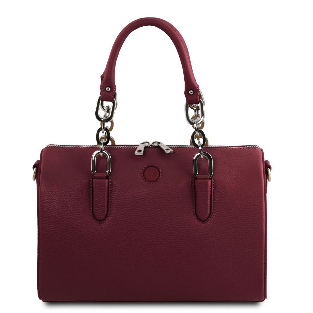 Narciso Hammered Leather Duffle Bag_5