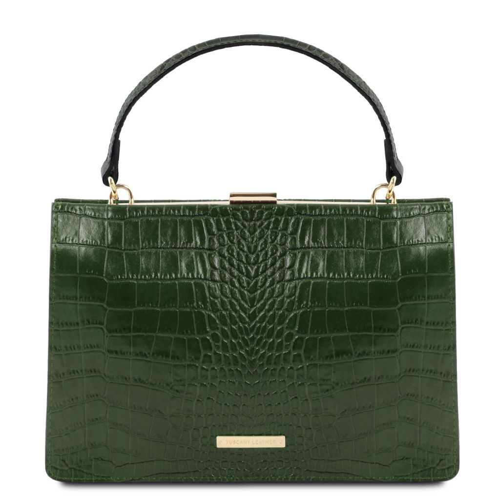 Iris Croc-Embossed Top Handle Bag_7