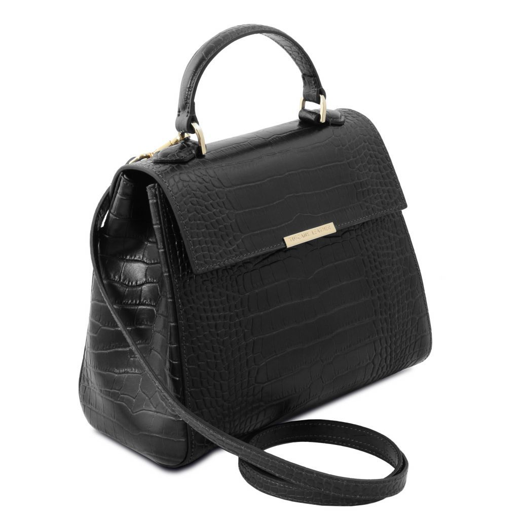 TL Croc-Embossed Top Handle Bag_13