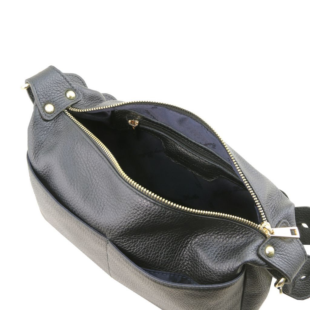 TL Hammered Leather Shoulder Bag