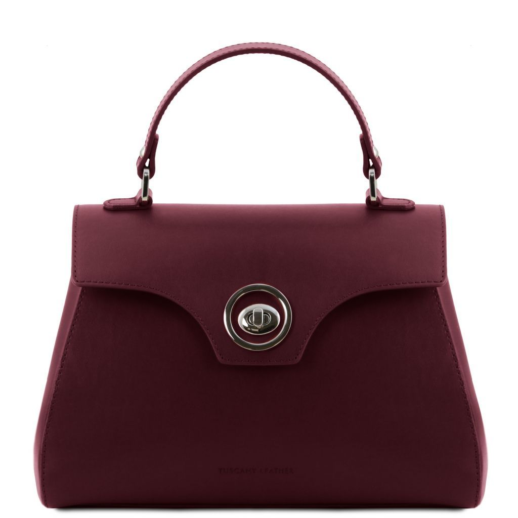 TL Smooth Leather Top Handle Bag_1