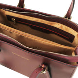 Aura Smooth Leather Satchel_41