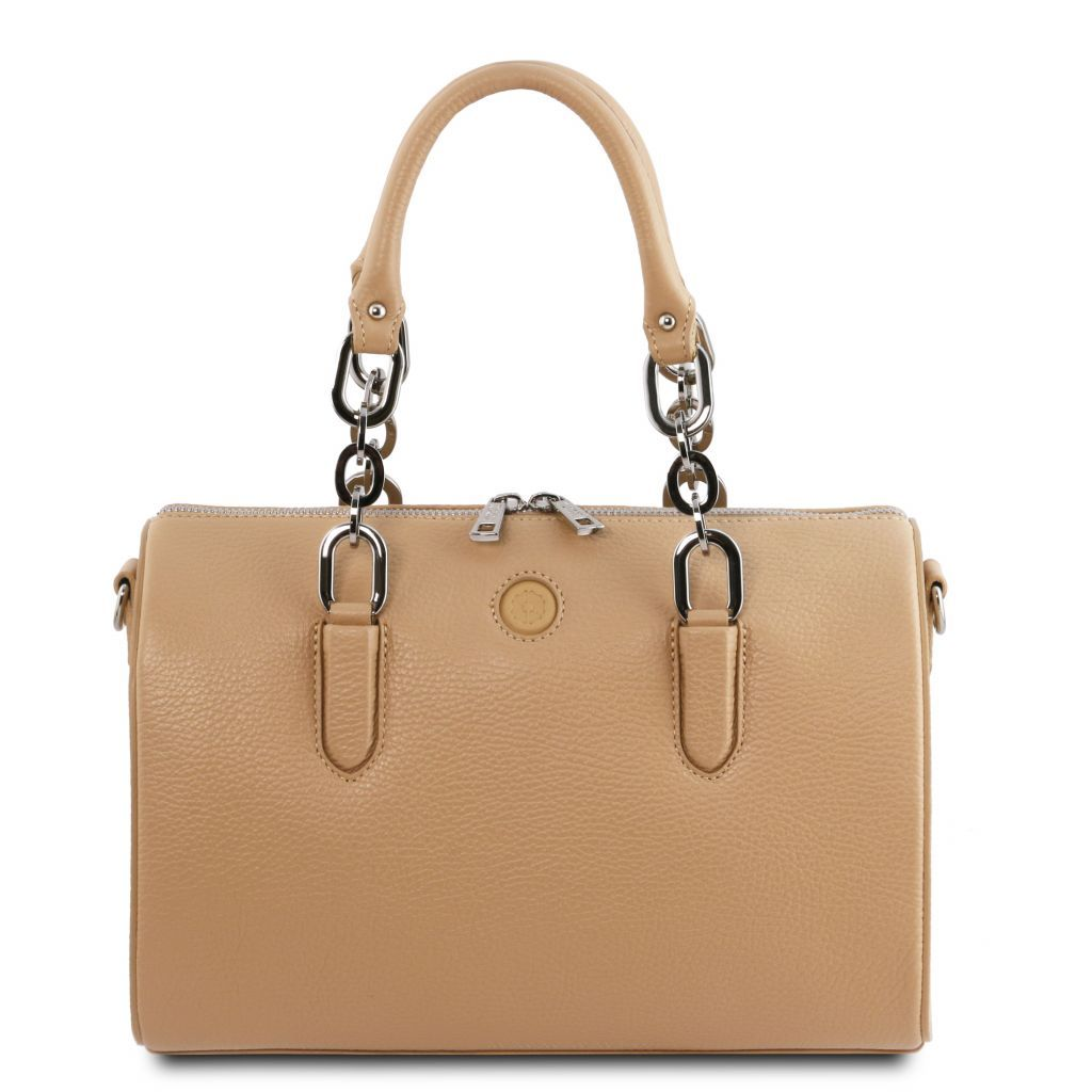 Narciso Hammered Leather Duffle Bag_1