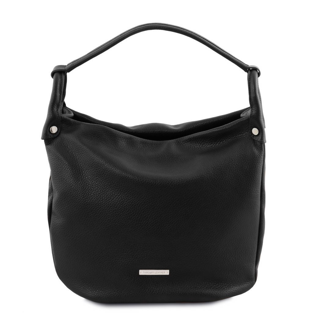 TL Embossed Leather Hobo Bag_2