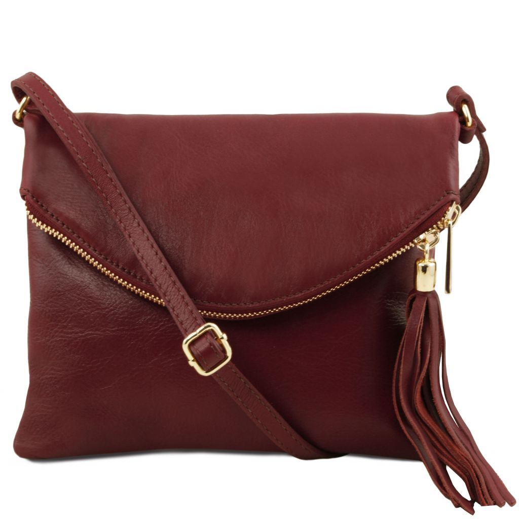 TL Young Soft Leather Shoulder Bag With Tassel_31