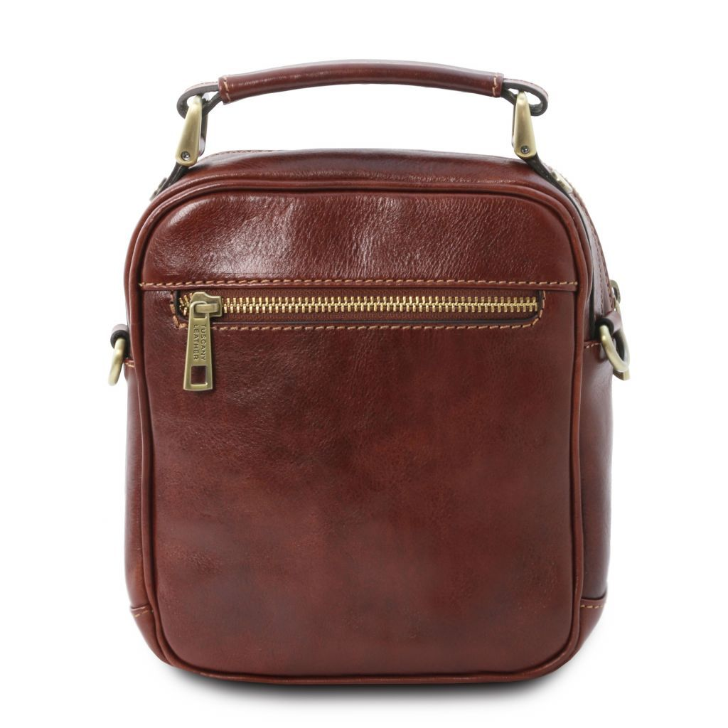 Paul Full Grain Vegetable Tanned Leather Crossbody Bag 25