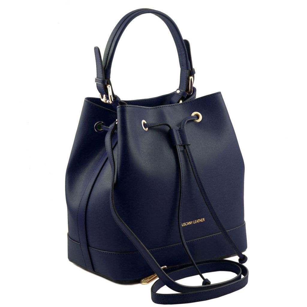 Minerva Saffiano Leather Bucket Bag_20