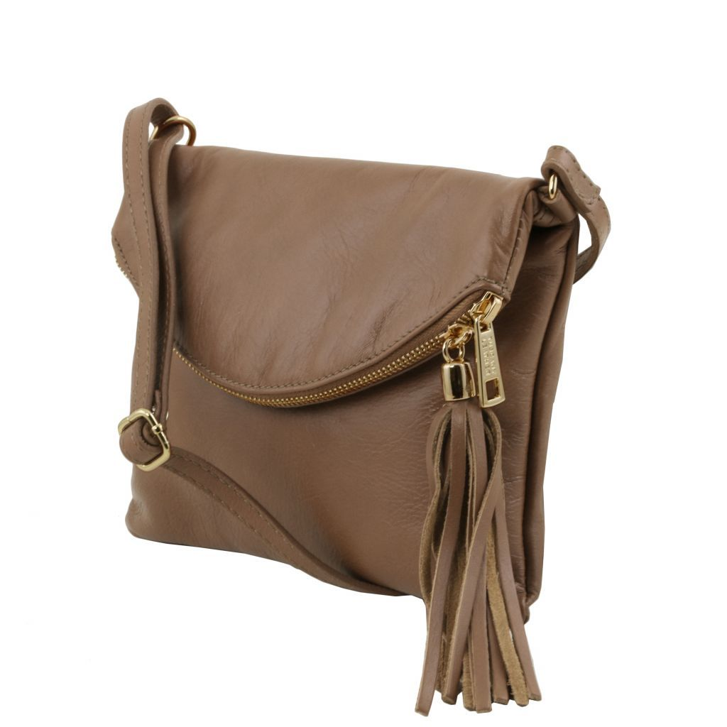 TL Young Soft Leather Shoulder Bag With Tassel_26
