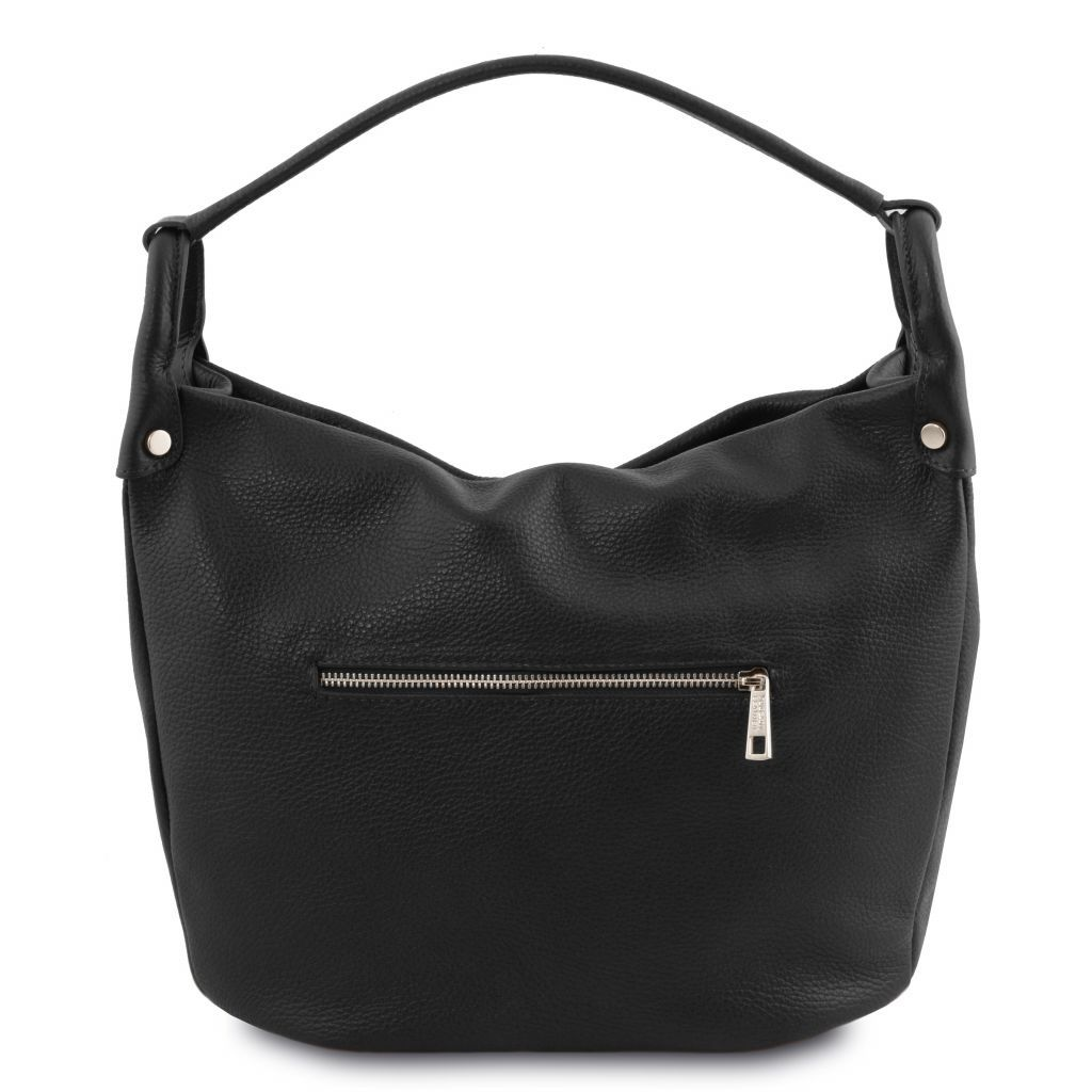 TL Embossed Leather Hobo Bag_12