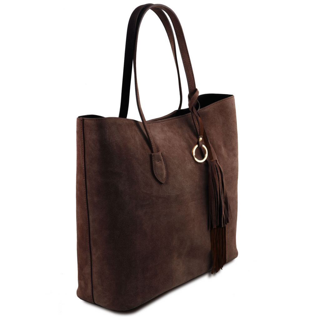 TL Suede Leather Shopping Bag_4