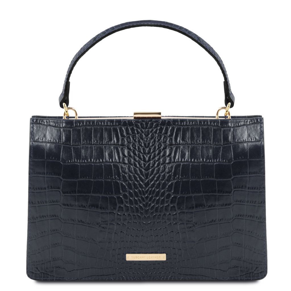 Iris Croc-Embossed Top Handle Bag_11