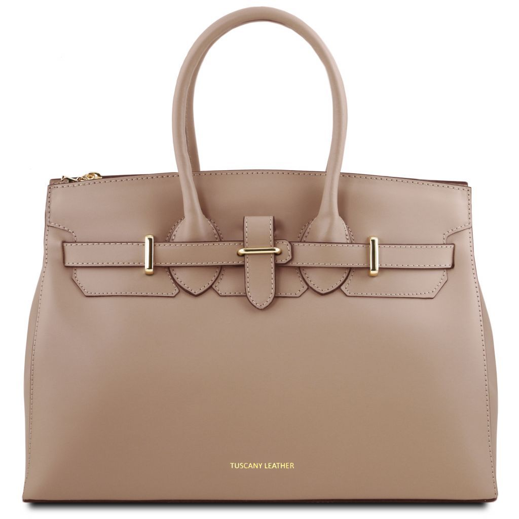 Elettra Smooth Leather Elagent Satchel_15