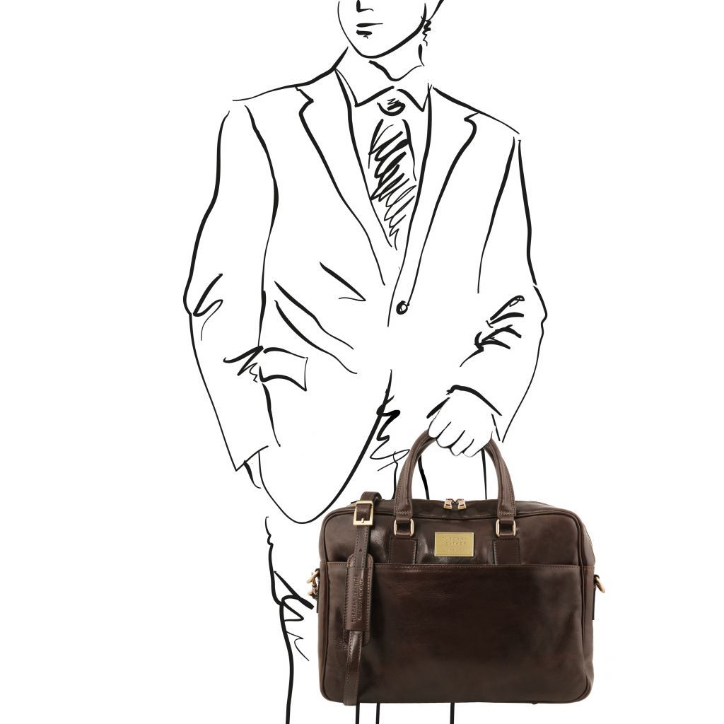 Urbino Vegetable Tanned Leather laptop briefcase_32