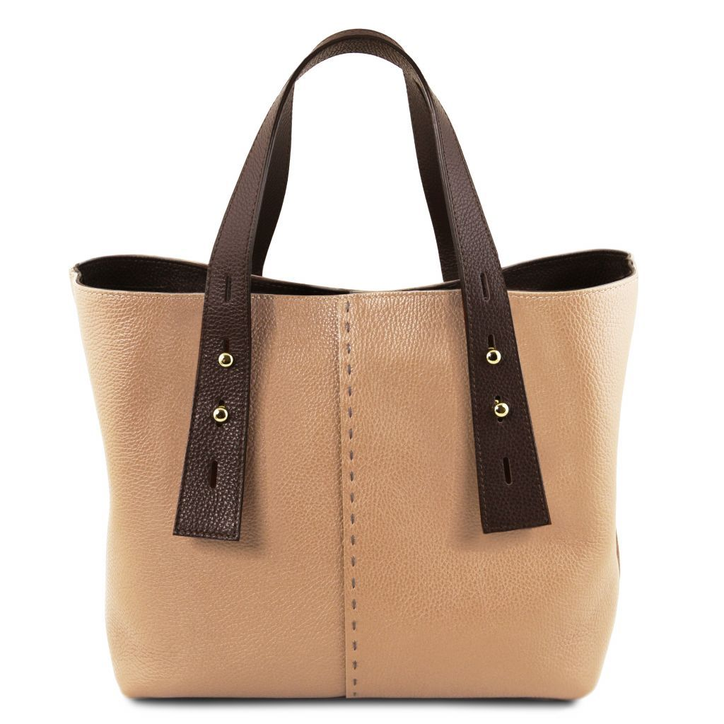 TL Hammered Leather Shopping Tote_31